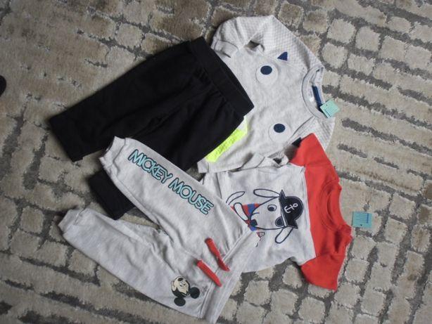 spodnie 74 bluza body mały zestaw