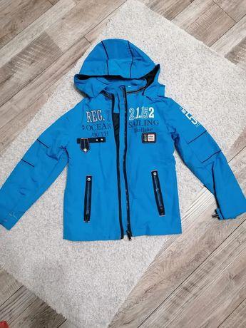Куртка-ветровка ярко-голубая