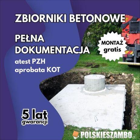 Zbiornik betonowy Szambo betonowe Deszczówka Woda Piwiniczka Atest