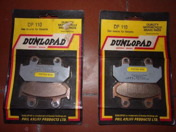Jogo de 4 pastilhas travão mota DUNLOPAD DP110 - Para várias Hondas ..