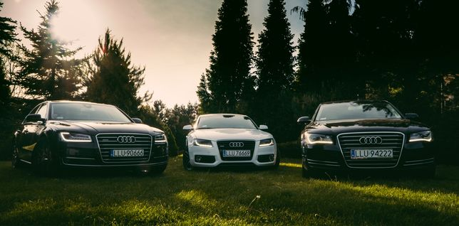 Samochód Auto do ślubu Audi A8/A5/A8 BIAŁA TAPICERKA