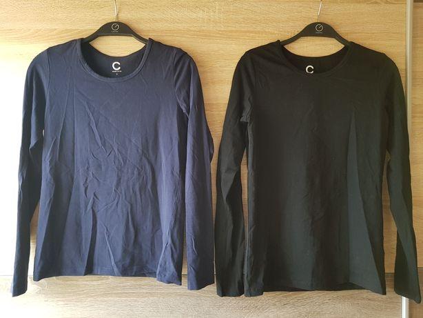 Cubus basic bluzki koszulki na długi rękaw czarna granatowa 36 S