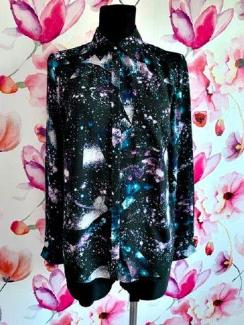 marks&spencer koszula ciekawy wzór kosmos nowa blog roz.36