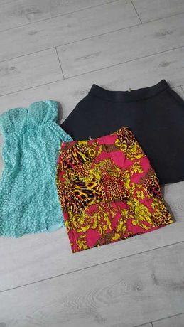 3 x sukienki spódnice xs - 34 zestaw