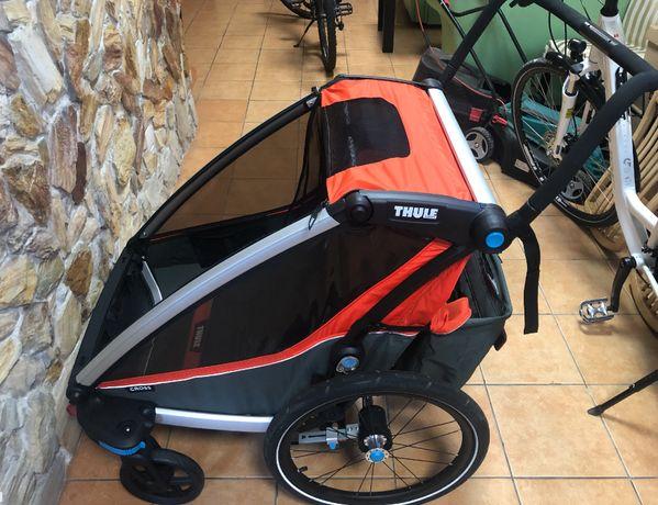 Thule Chariot Cross 2 - wózek, przyczepka rowerowa, czerwony.