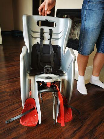 Fotelik rowerowy bellelli z bagażnikiem zestaw