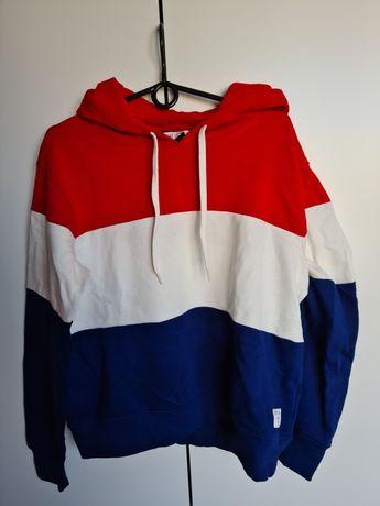 Nowa bluza H&M rozm. M Paski, czerwony, biały, granatowy