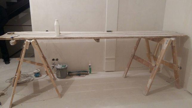 Козлики строительные и лестница