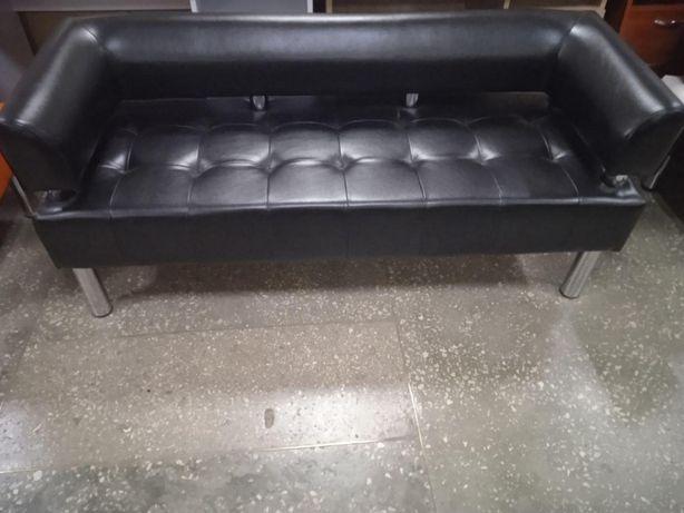 Офисный диван для офиса - черный глянцевый цвет
