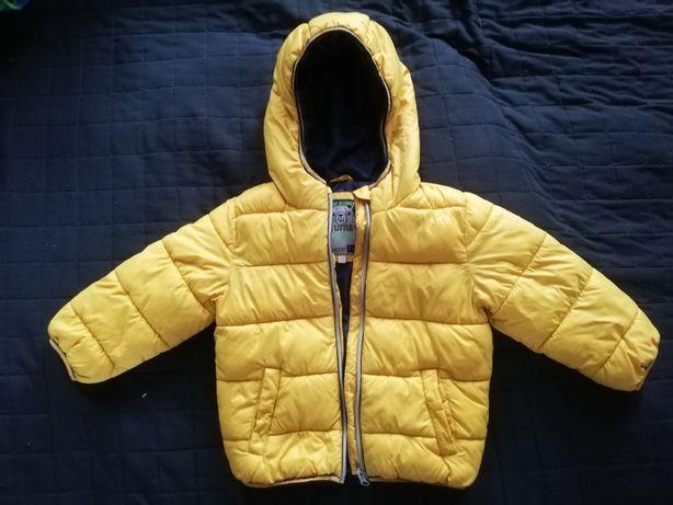 Sprzedam kurtkę zimowa żółta 3-4lata f&f