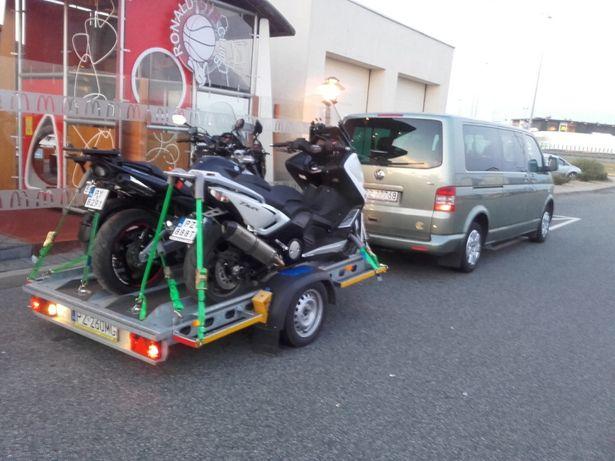 Wynajem przyczepa motocyklowa na 3 motocykle Wypożyczalnia