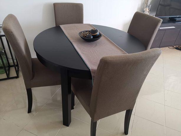 Conjunto Mesa extensível + 4 Cadeiras