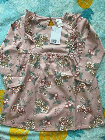 Детское платье Н&М с длинным рукавом, размер 2-3 года