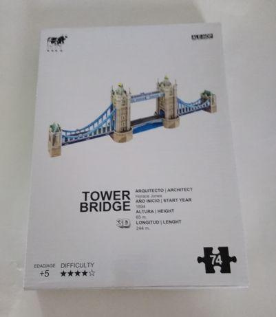 SALDOS - Puzzle 3D Tower Bridge Londres novo. OFERTA DIA DA MÃE