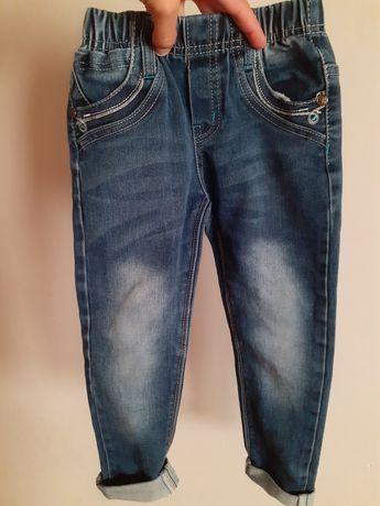 Spodnie jeansowe dla dziewczynki Niebieski Księżyc 110-116