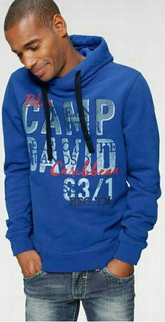 Bluza męska z kapturem Camp David M L XL nowa oryginalna połowa ceny