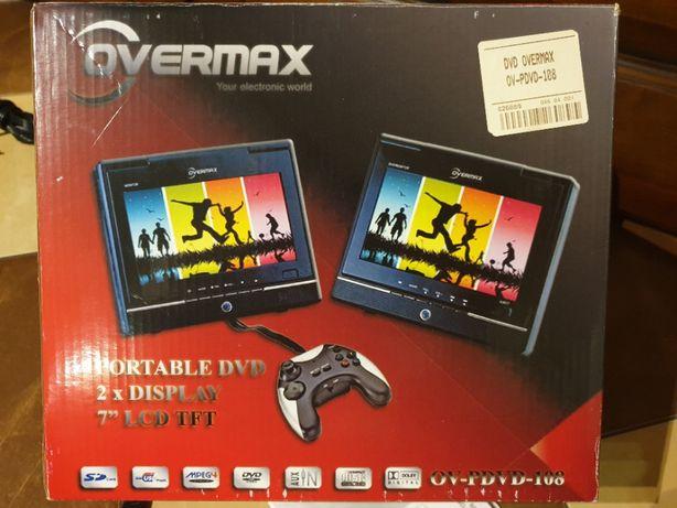 """OVERMAX dwa ekrany 7"""" USB/SD/CD/DVD idealny w podróż samochodem"""