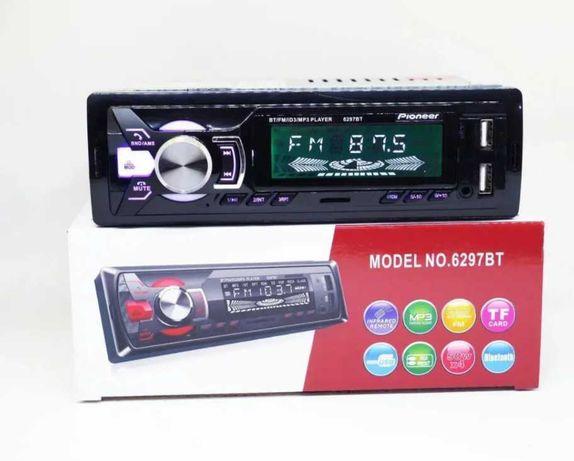 Автомагнитола с блютузом 1DIN MP3 6297BT 2USB-зарядка TFcard bluetooth