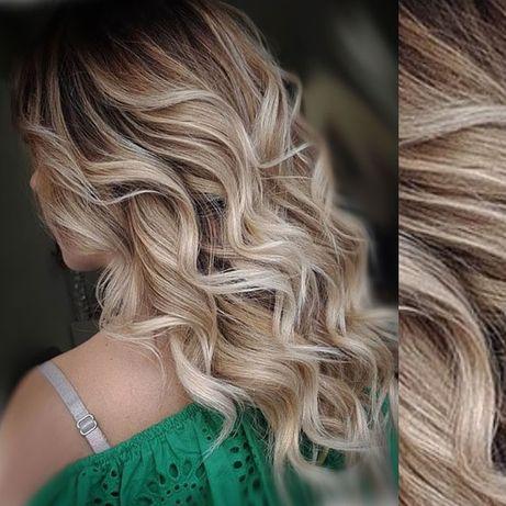 Сложные окрашивания/покраска волос. Балаяж.Шатуш Чистый Блонд Прическа
