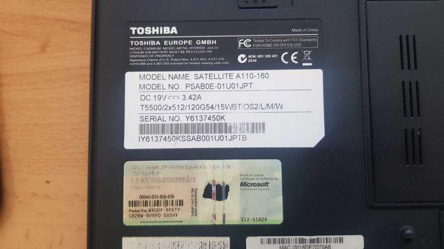 Portátil Toshiba A110