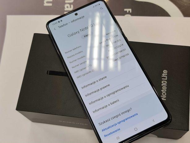 13.11.20! Samsung Galaxy Note 10 Lite Dual SIM/ Aura Black/ Gwarancja