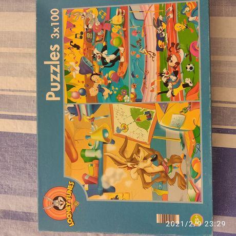 3 puzzles Looney Tunes para criança
