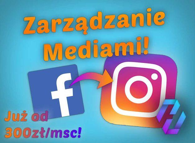 Zarządzanie Mediami Instagram, Facebook, Twitter / Prowadzenie Fanpage