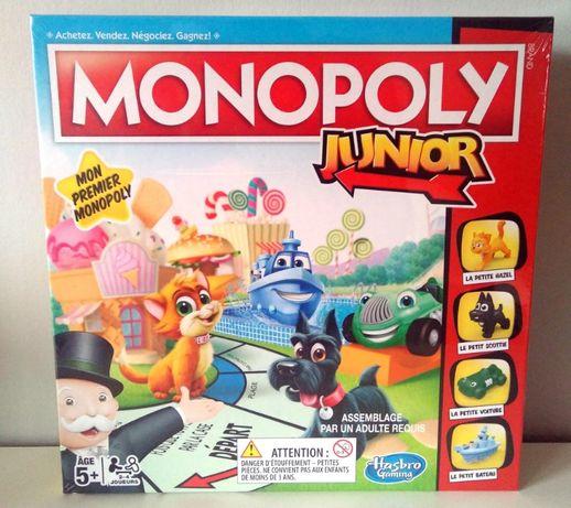 Monopoly Junior - gra planszowa dla dzieci - nowa, zafoliowana