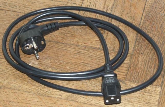 Kabel zasilający 230V 1 m do TV sprzętu RTV, AGD, komputerowego