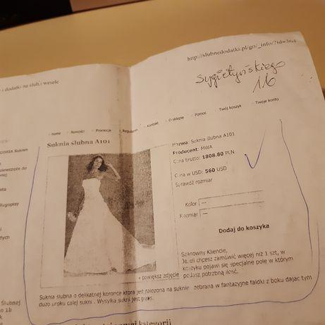 Suknia ślubna r 36/S