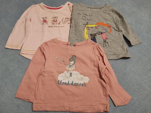 3 bluzeczki (Mothercare, Next, Primark)