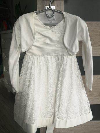 Śliczna sukienka + bolerko 98/104