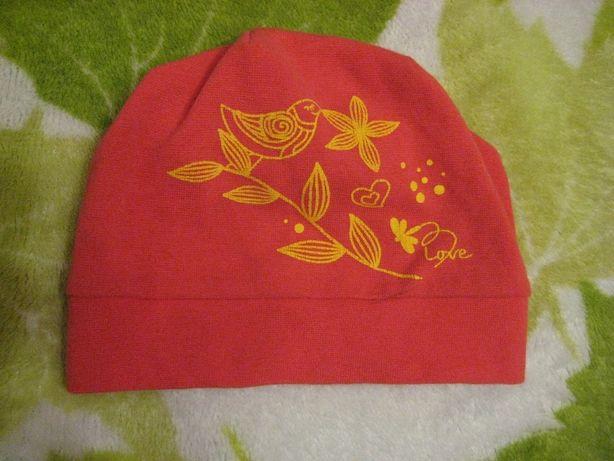 однослойная трикотажная шапка на 1,5-2 года