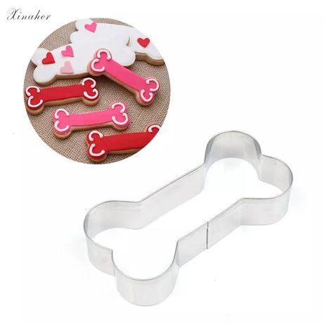 Cortador de biscoito forma osso cão molde bolacha ferramenta animais g