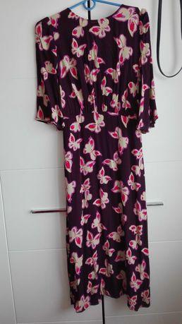 Długa, do połowy łydki wiosenna sukienka Mango rozmiar S
