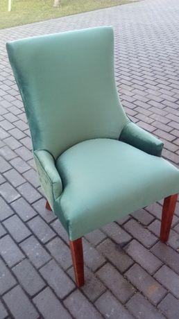 Krzesło krzesła tapicerowane zieleń 6 sztuk od ręki