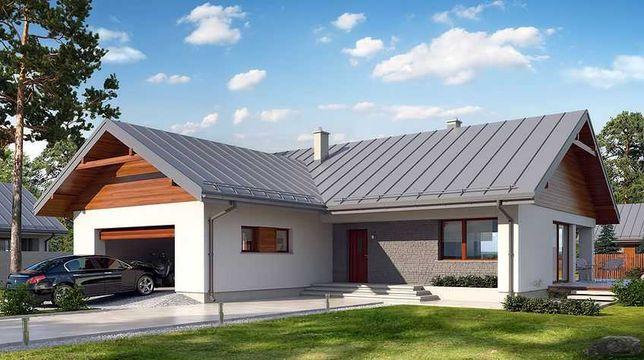 Dom szkieletowy, energooszczędny, parterowy, według projektu ENDO 2