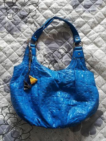 Niebieska duza torebka