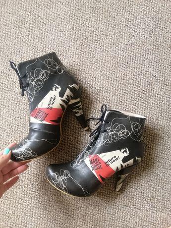 Демисезонние, женские ботинки (36 размер)