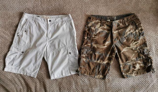 Продам шорты мужские б/у и новые, камуфляж, джинс, 100% хлопок.