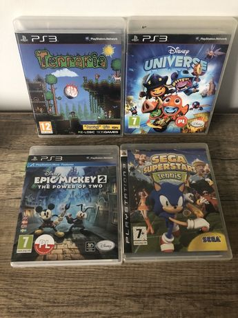 PlayStation Ps 3 Terraria, Disney Universe, Epic Mickey 2, Tenis Star!