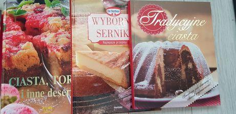 Książki słodkości ciasta i serniki 3SZT WYPRZEDAŻ KSIĄŻEK