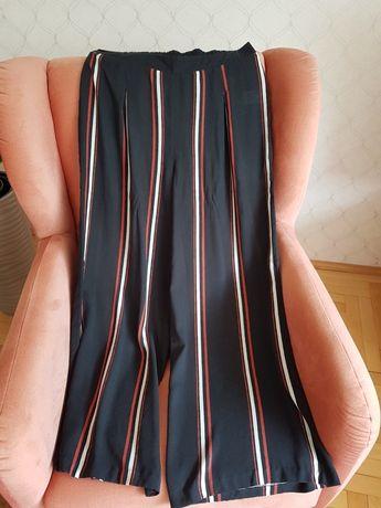 Długie szerokie spodnie