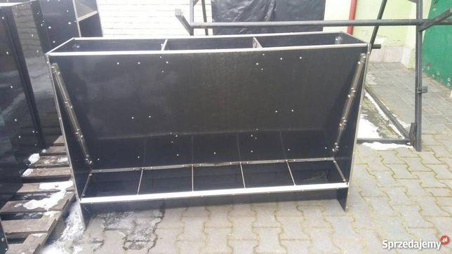autokarmnik na 5 stanowisk podwójny karmnik zasypowy dla W T z płyty