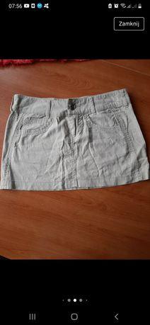 Spódnica spódniczka mini ecru śmietankowa cappuccino