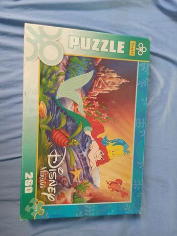 Puzzle Disney mała syrenka 260 kawałków