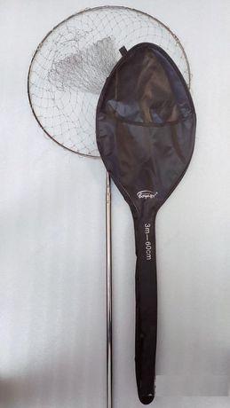 Подсак складной круглый 50 и 60см голова 190-300см длина ручки в Чехле