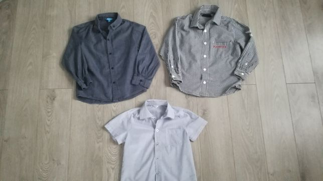 3 koszule na chłopca 110-116, 5-6 lat