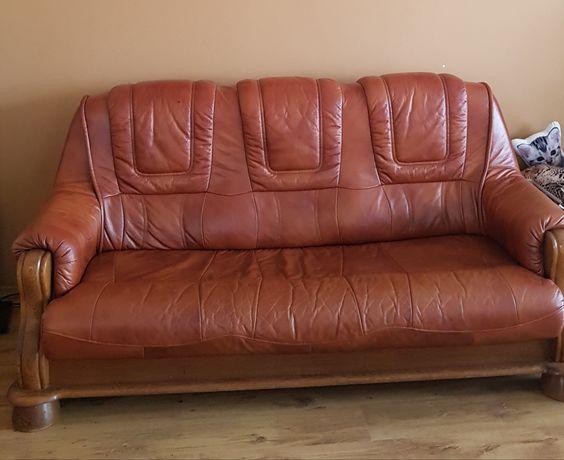 Sofa skórzana plus fotele