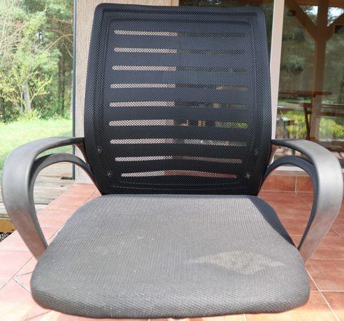 Fotel biurowy, obrotowy, do biurka - czarny, plastikowy, używany 2 ms